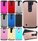 For LG K10 HARD Astronoot Hybrid Rubber Silicone Case Phone Cover +Screen Guard