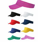 EURO FASHION SUN VISOR, 100% COTTON, 8 COLOURS,  GOLF TENNIS