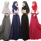 Muslim Lace Cuff Women  Long Dress Islamic Dubai Turkish Ladies Maxi Clothing