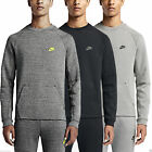 Nike Men's Tech Fleece Crew Cotton Polyester Activewear Pull Over Sweatshirt