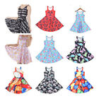 Fashion 3D galaxy Printed Skater Two-way Singlet Dress Sleeveless Summer Dress
