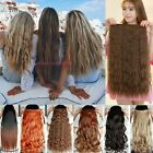 Real Thick One Piece Long 3/4 Full head Hair Extensions Curly as Human hair fpp1