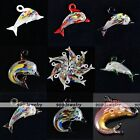 1pc Murano Dolphin Lampwork Glass Bead Charm Pendant For Necklace Jewelry Gift