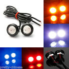 12V Car Motorcycle 10W LED Eagle Eye Daytime Running DRL Tail Light Lamp Black
