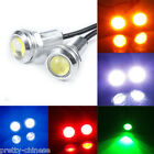 12V Car Motorcycle 10W LED Eagle Eye Daytime Running DRL Tail Light Lamp Silver
