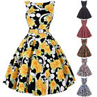 Ladies Vintage 1950s Cocktail Party Causl Prom Dress Swing Pinup Retro Dress