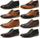 London Brogues Gatsby Leather Mens Brogue Shoes ALL SIZES AND COLOURS