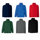 FRUIT OF THE LOOM FULL ZIP FLEECE OUTDOORS HIKING- 6 COLOURS