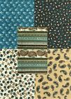 PERFECTLY PAISLEY - Turquoise and Brown Paisley Fabric Collection - 1 Yard