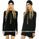 Fashion Womens Long Sleeve Bodycon Cocktail Party Sweater Mini Dress