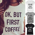 Womens Summer Short Sleeve Casual Print T-shirt Letter Graphic Tee Tops Blouse F