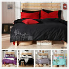 100%Cotton King/Queen/Double Size Quilt Duvet Doona Cover Set Solid Bed Covers