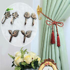 Vintage Rose Leaves Wall Tie Clothes Towl Tieback Hooks Antique Curtain Hanger