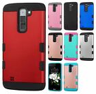 For LG K7 / Tribute 5 Tuff Trooper HYBRID TPU Hard Case Skin Phone Cover