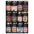 KISS GOLD FINGER POSH QUEEN 24 FULL COVER NAILS GLUE ON INCLUDED LOSH