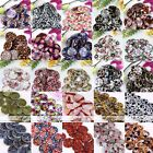 Strand 30mm MOP Shell Flower Flat Coin Round Loose Bead Fit Jewelry Findings DIY