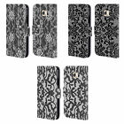 HEAD CASE DESIGNS BLACK LACE LEATHER BOOK WALLET CASE FOR SAMSUNG GALAXY S6