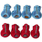 4pcs Pet Dog Puppy Sandals Shoes Summer Mesh Breathable Anti Slip Boots Spring A