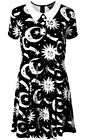 Killstar Goth Occult Gothic Cozmic Death Dress Peter Pan Collar Grunge Babydoll