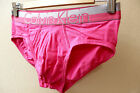 Calvin Klein CK Men Pink Magnetic cotton stretch hip Brief Underwear S, M or L