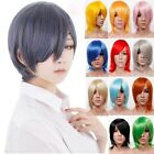 Cosplay Unisex Short Layered wavy  Full Wigs Daily Cosplay Anime party Hot Sales