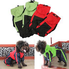 Pet Raincoat Dog Waterproof Puppy Poncho Clothes Apparel Hooded PU Leather XS-XL