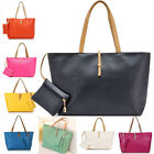 Lady Women's Handbag Bags PU Leather Tote Bag Simple Shoulder Satchel Hobo Bag