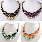 Womens Fashion Gorgeous Boho Metal Weave Bib Statement Necklaces Chunky Pendant