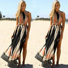 Women Boho Long Maxi Dress Summer Beach Evening Party Dresses Sundress .New
