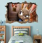 Zootopia Judy Hopps Smashed Wall Decal Graphic Wall Sticker Art Mural H469