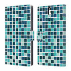 HEAD CASE DESIGNS MOSAIC TILES LEATHER BOOK WALLET CASE FOR SONY XPERIA C5 ULTRA