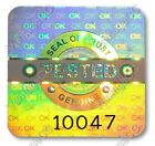 LARGE TESTED Security Hologram Stickers Labels, 20mm Square, Warranty QC Checked