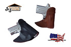 J&J SMITH & WESSON M&P 9/40 SHIELD W LASERMAX LASER FRONT POCKET LEATHER HOLSTER