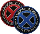 X-Men Xavier's School Embroidered Patch 10cm in Red or Blue Sew/Iron-on