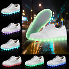 Luminous Unisex Casual LED Shoes Light Up Sportswear Lace-Up Sneaker USB