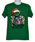 Star Wars Xmas T-shirt Christmas Yoda with Gifts Tee Green Cotton NWT $13.99 USD on eBay