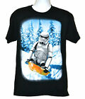 Star Wars Xmas T-shirt Stormtrooper Toboggan Sled Tee Black Cotton NWT $13.99 USD on eBay