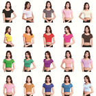 Women's Modal Cotton Tops Arab Short Sleeve T Shirt Muslim Islamic Tight Midriff