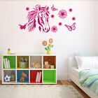 Flower Horse Wall Decal Vinyl Art Home Decor