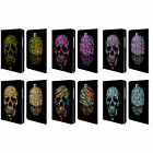 HEAD CASE SKULLS IN ANIMAL PRINTS LEATHER BOOK CASE FOR SAMSUNG GALAXY TABLETS