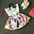Toddler Kids Baby Girls Outfits Clothes T-shirt Tops Pants Shorts Skirt 2PCS Set