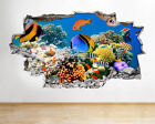 A039 Aquarium Fish Ocean Sea Coral Wall Decal Poster 3D Art Stickers Vinyl Room