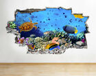 A051 Aquarium Fish Ocean Sea Coral Wall Decal Poster 3D Art Stickers Vinyl Room