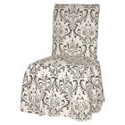 black damask chair - Damask Dining Chair Slipcover