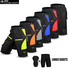 Mens Cycling MTB Short Off Road Cycle Coolmax Padded Liner Shorts Size M, L, XL