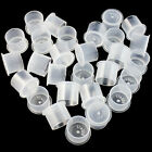 100pcs Self Standing INK CUPS Clear Plastic Tattoo Ink Pigment Color Holder Caps
