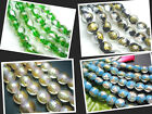 12MM New Gold Foil & Silver Foil Lampwork Glass Oblate Loose Beads 33PCS G1213A