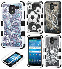 For Kyocera Hydro Reach C6743 IMPACT TUFF HYBRID Case Skin Cover + Screen Guard