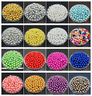 New DIY 4mm 6mm 8mm 10mm Acrylic Round Pearl Spacer Loose Beads Jewelry Making