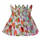 50s VINTAGE BRIDESMAID 100% COTTON FLORAL FULLY FLARED DRESS NEW 8 - 20